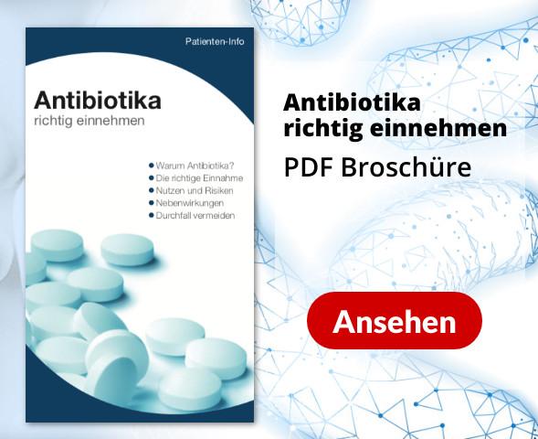 PDF Broschüre Antibiotika richtig einnehmen
