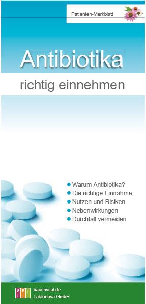 Patienten Merkblatt Antibiotika richtig einnehmen