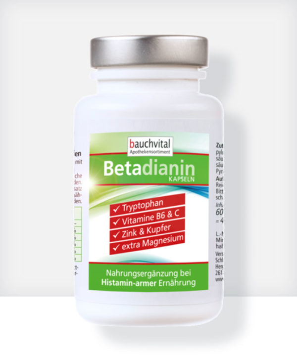 Betadianin für eine histaminarme Ernährung